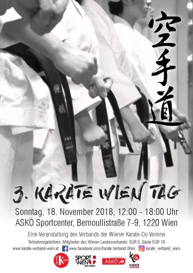 Veranstaltung 3. Karate Wien Tag vom Verband der Wiener Karate-Do Vereine