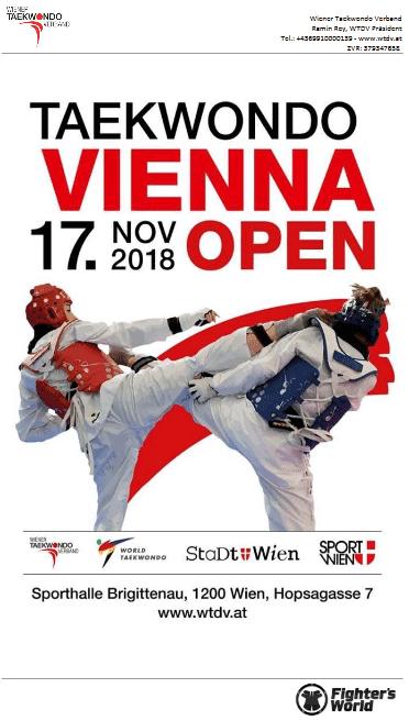 Vienna Open Landesmeisterschaften Taekwondo 2018 WTDV