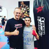 Ibin Amiri mit Trainer Franz Haberl