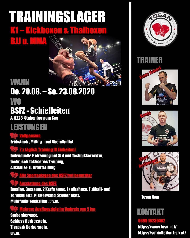Tosan Fight Club | Trainingslager | Kickboxen | Thaiboxen | BJJ | MMA