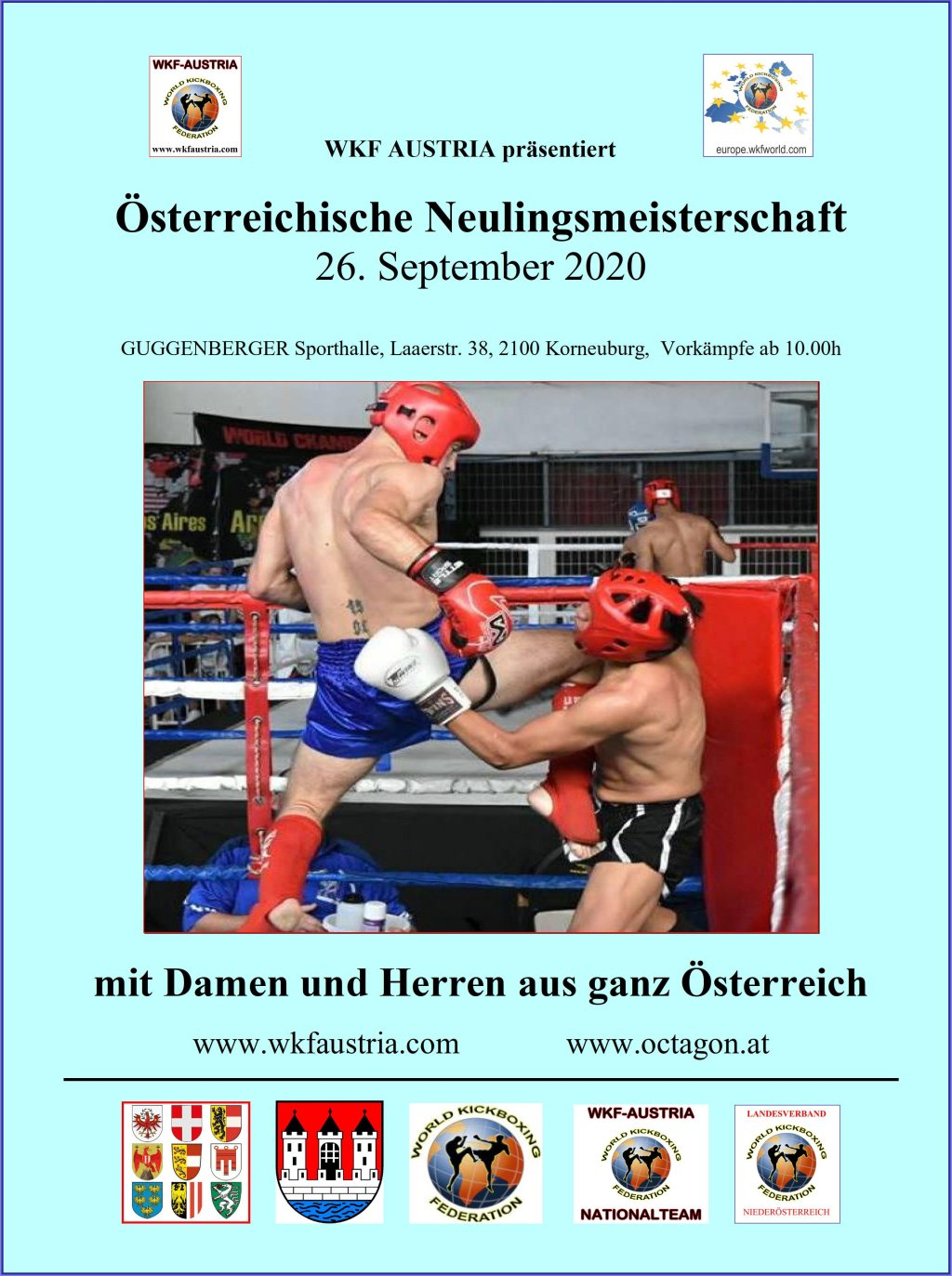 WKF Austria präsentiert Österreichische Neulingsmeisterschaft am 26. September 2020