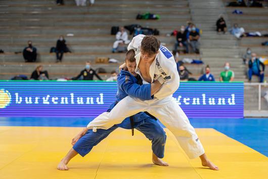 Jakob Wiesinger im Halbfinale gegen Czizsek (Fotos: Judo Austria/Sellner)