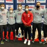 Gruppenfoto des Österreichischen Ringsport Teams im Stil Griechisch-Römisch beim Weltcup in Nizza Frankreich