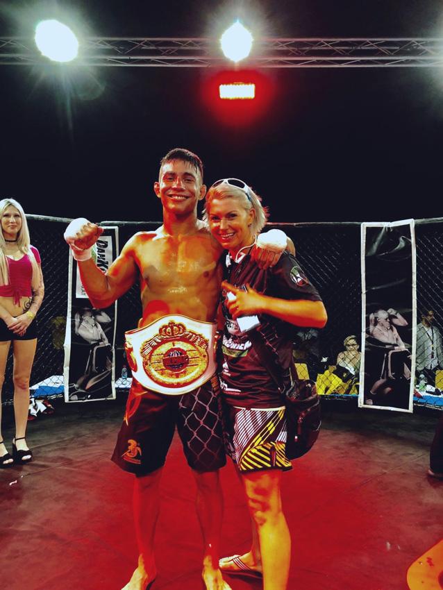 Daniel Torres | Jasminka Cive | nach einem Kampf | Star Fight Enns | haben geheiratet