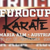Euro Cup 2020 Karate Plakat am 19. und 20. September 2020 in Maria Alm